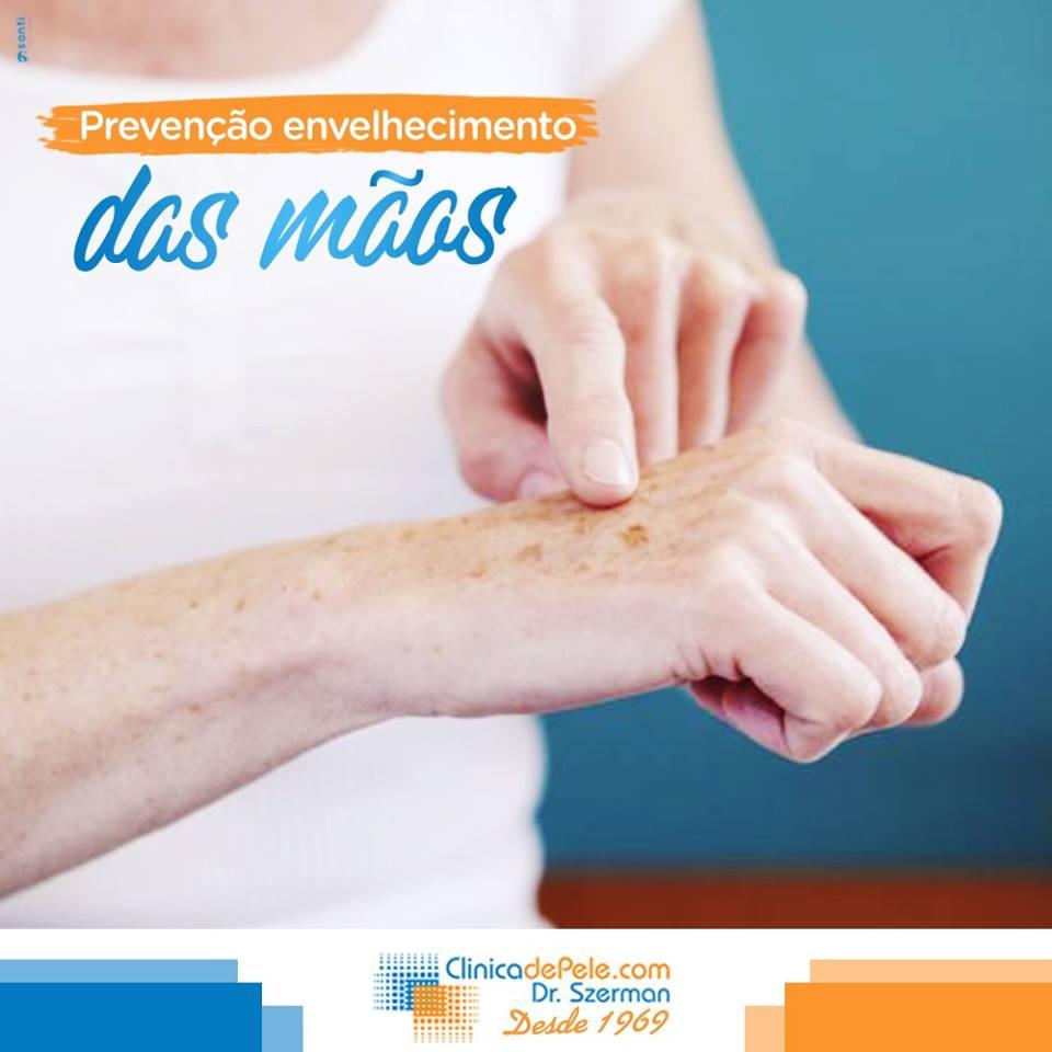 prevenir envelhecimento das mãos